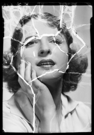 Girl's head, Southern California, 1936