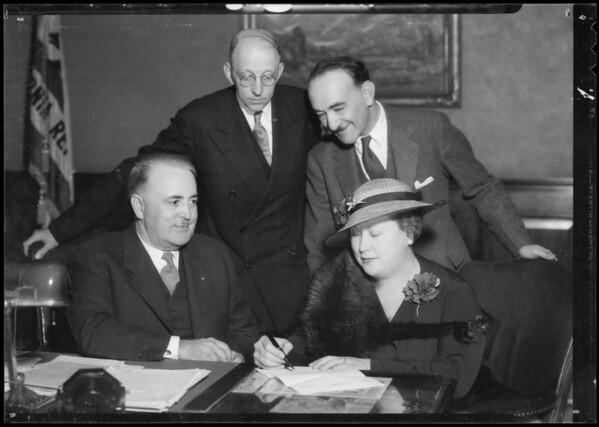 Mayor Shaw & Mrs. Irish, Southern California, 1935