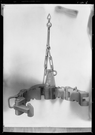 Oil tool tongs, Southern California, 1927