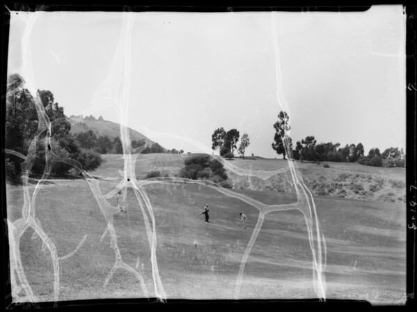 Retired businessman at ranch, golf course, etc., Southern California, 1935