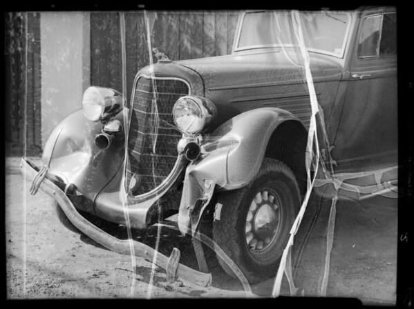 Dodge sedan, Southern California, 1936