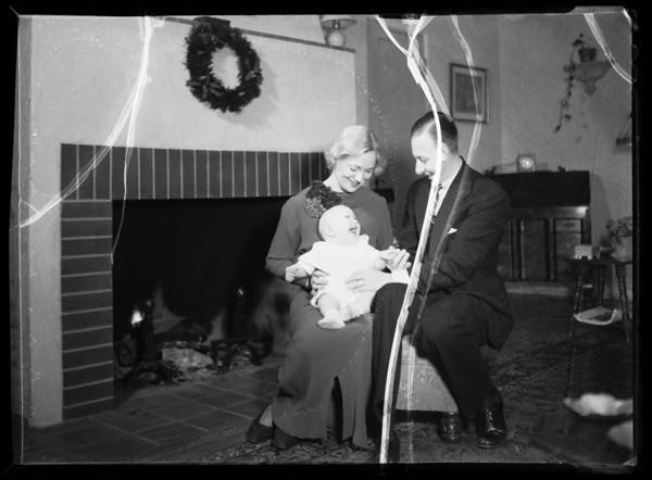 Christmas card, Southern California, 1935