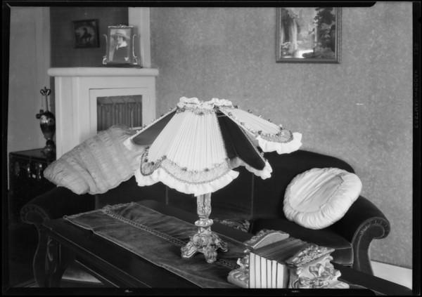 Lamp shade, Southern California, 1926