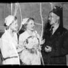 Potentate Ritter and nurses with quintuplets, Southern California, 1936