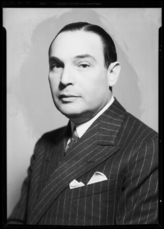 Portrait of Dr. Marks, Southern California, 1935