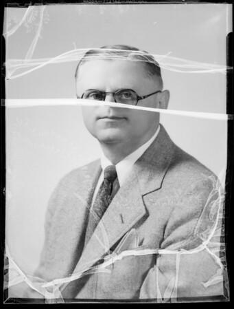 Portrait of Edgar Selecman, Southern California, 1935