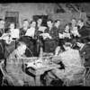Radio cast in rehearsal, Southern California, 1936