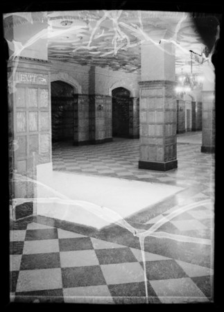 Basement in Arcade building, Southern California, 1935