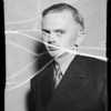 Testimonial man, J.C. Schafer, Southern California, 1935