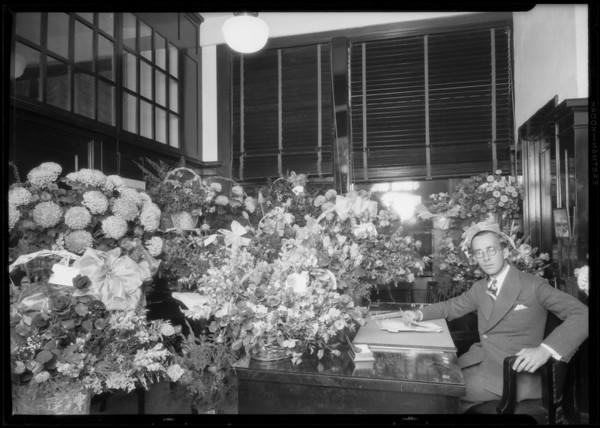Mr. Stransberger in office, Los Angeles, CA, 1926