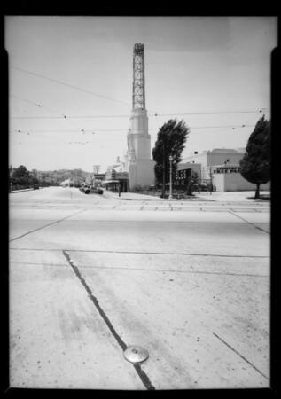 Intersection for blotter, Los Angeles, CA, 1935