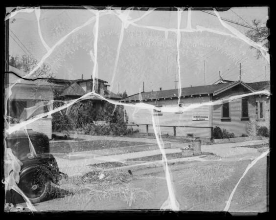 Houses near the studio, Los Angeles, CA, 1936