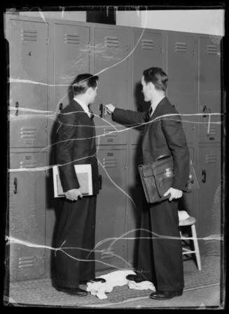 Students in school clothes for mailing piece, Southern California, 1935