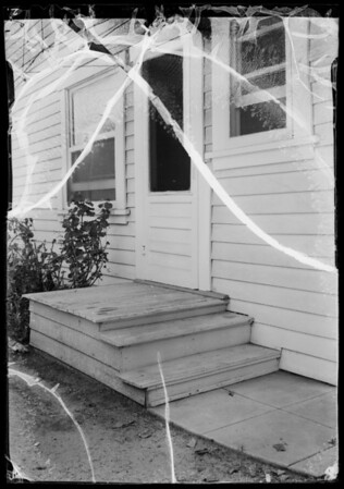 Rear steps of Hart residence, 3956 Trinity Street, Los Angeles, CA, 1935
