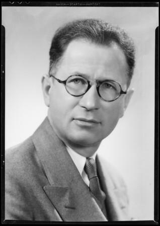 Portrait of Mr. E. Clay, Southern California, 1935