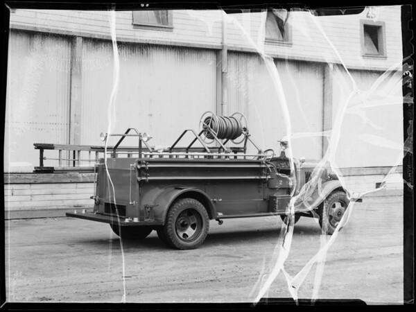 Santa Paula fire department truck, Santa Paula, CA, 1936