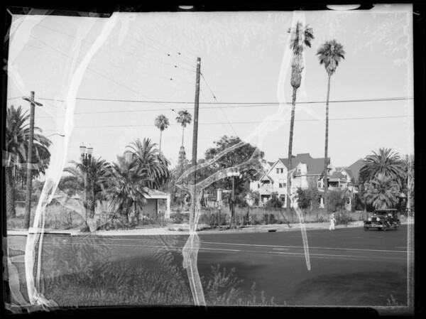 Lot at northeast corner of West Adams Boulevard and Hoover Street, Los Angeles, CA, 1935