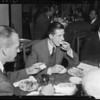 Dinner at Eleda Restaurant, 4296 Crenshaw Boulevard, Los Angeles, CA, 1940