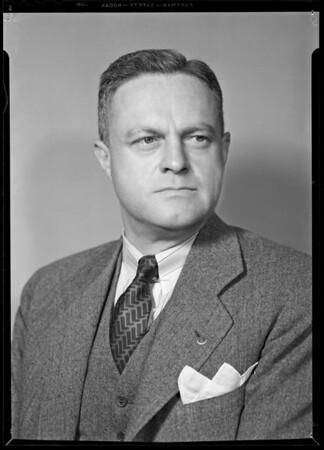Portrait of Mr. John Miller, Los Angeles, CA, 1940