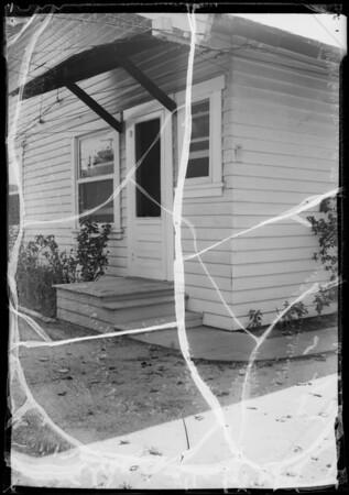Rear steps of Hart residence, 3956 Trinity Street, Los Angeles, CA, 1935