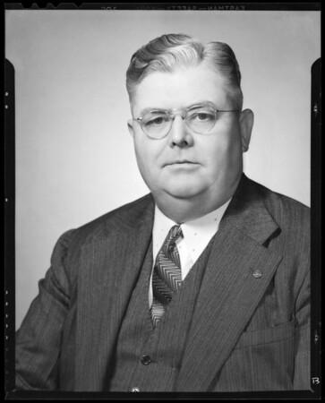 Portrait of Ira S. Shull, Southern California, 1940