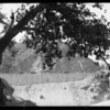 Retaining wall at Devil's Gate Dam, Pasadena, CA, 1926