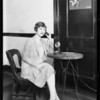 Kay Hammond at telephone, Southern California, 1927