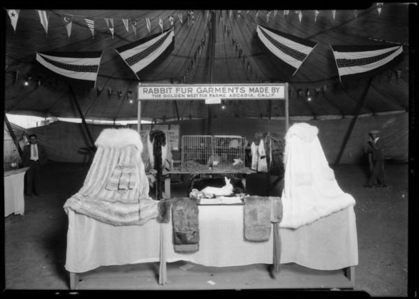 Rabbit booth at Riverside Fair, Southern California, 1926