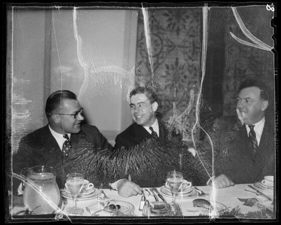 Candid shots at banquet and show, Southern California, 1936