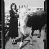 Girl crowning beef and composite, Southern California, 1936