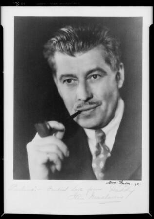 Portraits of self, Ian McClaren, Southern California, 1935