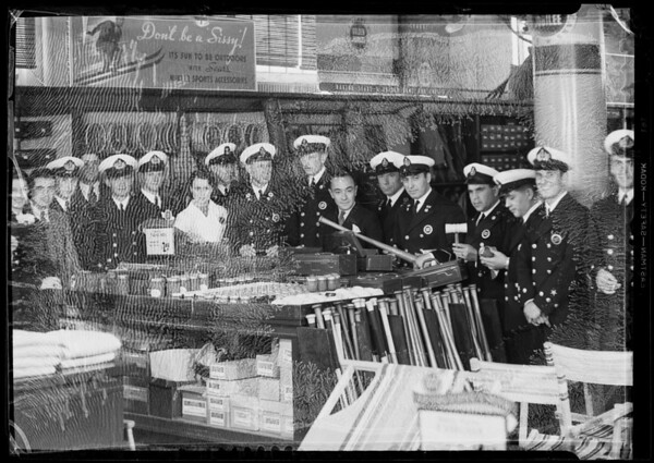 Group of Chilean navy officers, Southern California, 1936