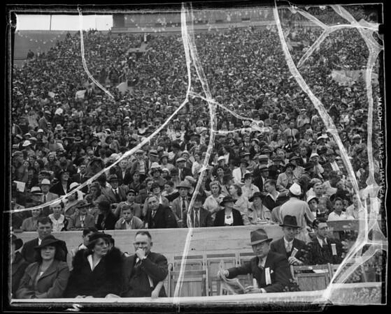 Crowds at Coliseum, Los Angeles, CA, 1935