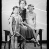 Mrs. Connor and two children, Southern California, 1936