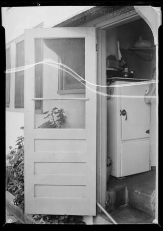 Screen door at 5630 La Mirada Avenue, Los Angeles, CA, 1935