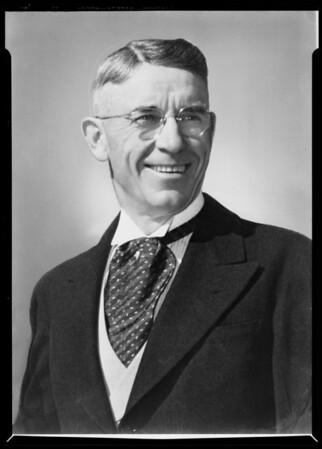 Head & shoulders of Mr. O'Keefe, Southern California, 1940