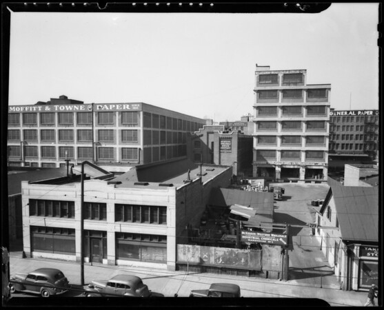 Western Wholesale Drug Company property on South San Pedro Street, Los Angeles, CA, 1940