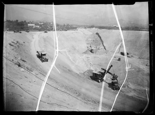 Debris basin at La Crescenta-Montrose, CA, 1935