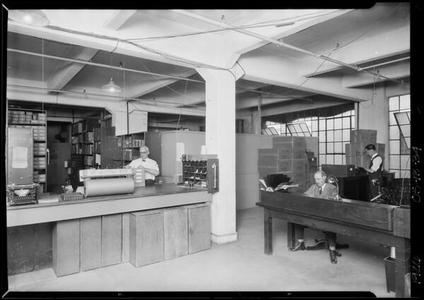 Scenes around warehouse, Southern California, 1926