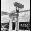 Neon signs on Pelton stores, Southern California, 1928