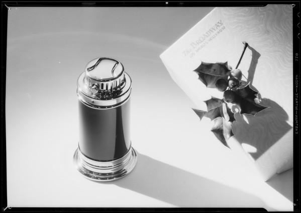Cigarette lighter, Broadway Department Store, Southern California, 1934
