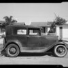 1931 Ford Tudor, owner Grant G. Speer, 1722 Sherbourne Drive, Los Angeles, CA, 1940