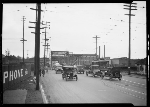 Macy Street Bridge [East Cesar E. Chavez Avenue], Los Angeles, CA, 1925