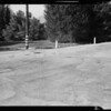 Skidmarks at Santa Anita Drive and Valley View, Altadena, CA, 1941