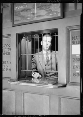 Ticket seller, Southern California, 1926