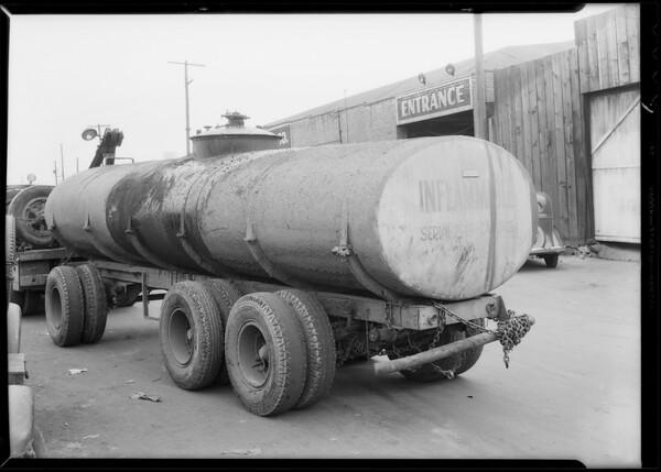 Tank trailer, Southern California, 1935