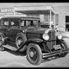 Wrecked Pontiac, Los Angeles Motor Service, 2524 South Hill Street, Los Angeles, CA, 1930