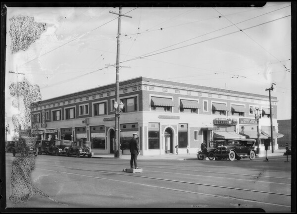 Pacific Southwest Bank, North Western Avenue and Santa Monica Boulevard branch, Los Angeles, CA, 1924