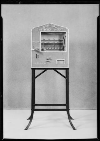 Baseball machine, Crown Sheet Metal, Southern California, 1931