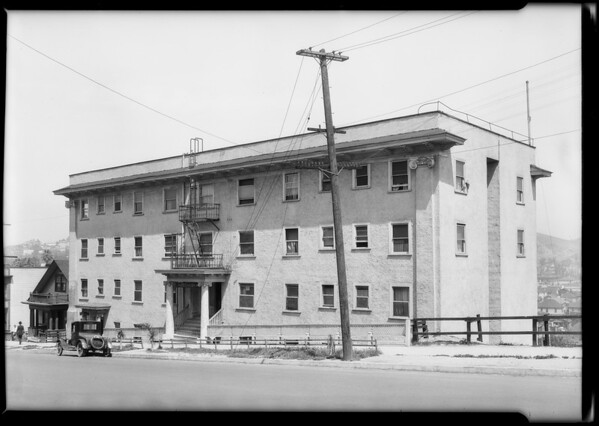 Hillcrest Apartments - 550 North Hill, Southern California, 1925